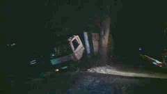Uwaga ślisko! Kolizja ciężarówki w Ankamatach. Przyczyną zdarzenia dzikie zwierzęta? - 21.01.2016