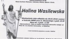 Zmarła Halina Wasilewska. Żyła 89 lat.