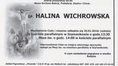 Zmarła Halina Wichrowska. Żyła 85 lat.