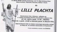 Zmarła Lillia Płachta. Żyła 73 lata.