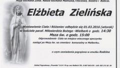 Zmarła Elżbieta Zielińska. Żyła 58 lat.