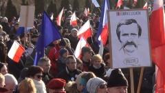 """Gdańsk: """"Murem za Wałęsą"""". Ok 15 tys. osób z poparciem dla byłego prezydenta – 28.02.2016"""
