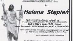 Zmarła Helena Stępień. Żyła 87 lat.