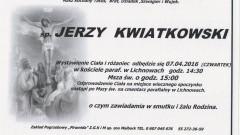 Zmarł Jerzy Kwiatkowski. Żył 66 lat.