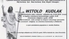 Zmarł Witold Kudlak. Żył 50 lat.