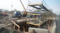 Nowy wiadukt na wylocie z Elbląga na Malbork. Zobacz, jak idą prace - 12.04.2016