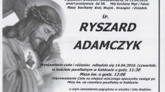 Zmarł Ryszard Adamczyk. Żył 58 lat.
