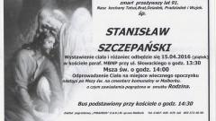 Zmarł Stanisław Szczepański. Żył 91 lat.