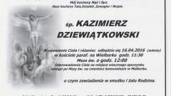 Zmarł Kazimierz Dziewiątkowski. Żył 64 lata.