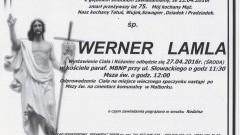 Zmarł Werner Lamla. Żył 75 lat.