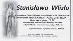 Zmarła Stanisława Wlizło. Żyła 81 lat.