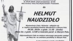Zmarł Helmut Naudzidło. Żył 83 lata.
