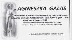 Zmarła Agnieszka Gałas. Żyła 78 lat.