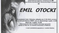 Zmarł Emil Otocki. Żył 26 lat.
