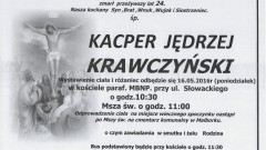 Zmarł Kacper Jędrzej Krawczyński. Żył 24 lata.