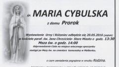 Zmarła Maria Cybulska. Żyła 94 lata.