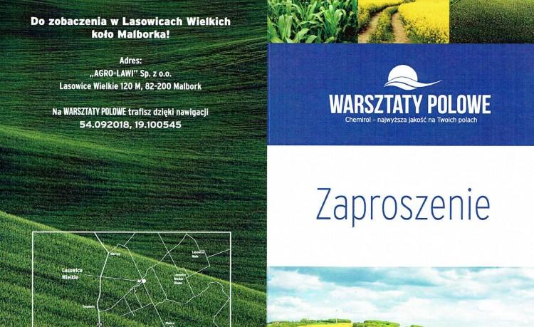 Serdecznie zapraszamy na Warsztaty Polowe w miejscowości Lasowice Wielkie - 14.06.2016
