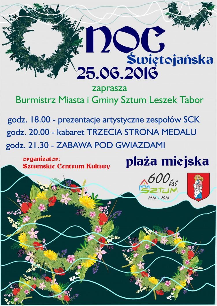 Noc Świętojańska na plaży w Sztumie – 25.06.2016