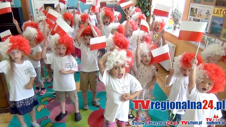 EURO 2016: Malborskie przedszkolaki dopingują Biało-Czerwonych - 30.06.2016