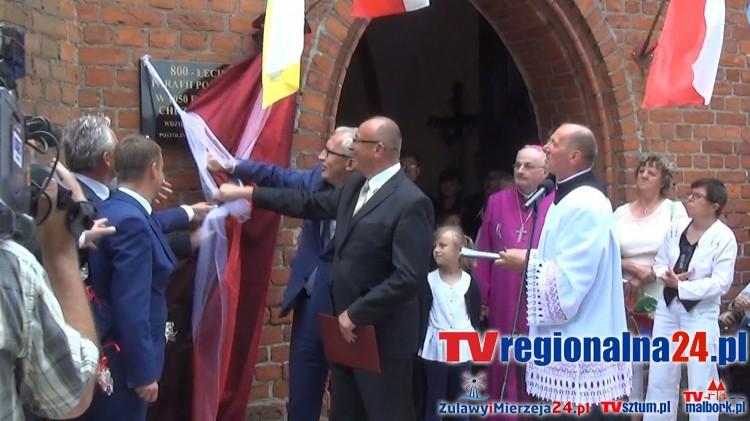 Obchody 800-lecia parafii w Postolinie. Ks. biskup Jacek Jezierski poświęcił tablicę pamiątkową – 10.07.2016