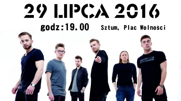 Sztum: Koncert Letni na pl. Wolności. Zagra GOOSEBUMPS. Zaprasza Burmistrz Miasta i Gminy Leszek Tabor – 29.07.2016