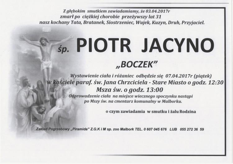 Zmarł Piotr Jacyno
