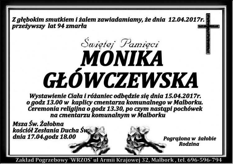 Zmarła Monika Główczewska. Żyła 94 lata.