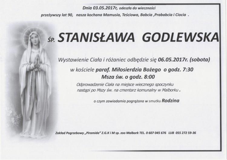 Zmarła Stanisława Godlewska. Żyła 90 lat.