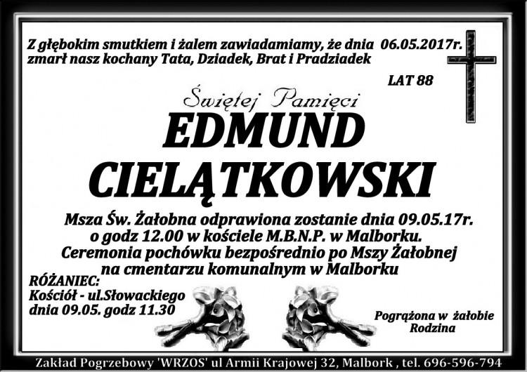 Zmarł Edmund Cielątkowski. Żył 88 lat.