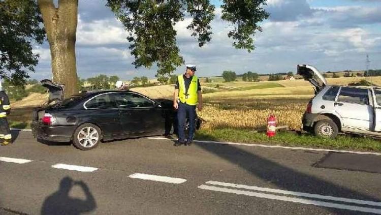 Wypadki, kolizje i przechylone drzewo na linii kolejowej. Raport weekendowy sztumskiej straży pożarnej – 24.07.2017