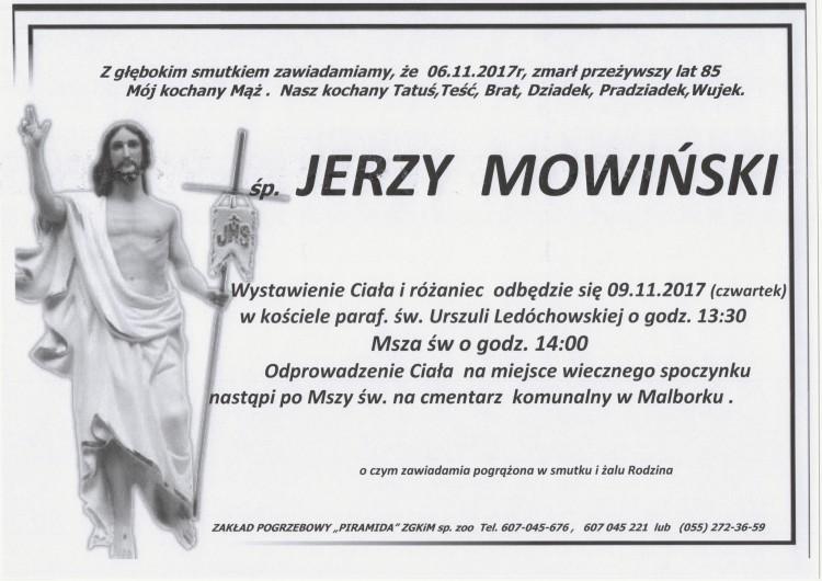 Zmarł Jerzy Mowiński. Żył 85 lat