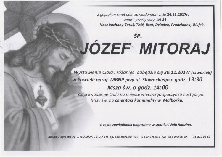 Zmarł Józef Mitoraj. Żył 84 lata.