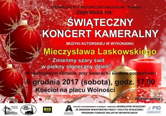 Zapraszamy na kameralny koncert świąteczny Mieczysława Laskowskiego w Sztumie! - 09.12.2017