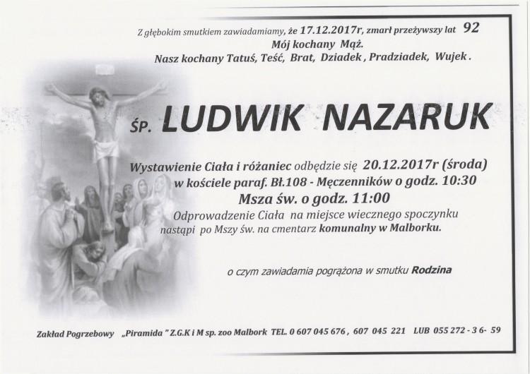 Zmarł Ludwik Nazaruk. Żył 92 lat