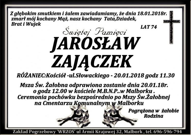 Zmarł Jarosław Zajączek. Żył 74 lata