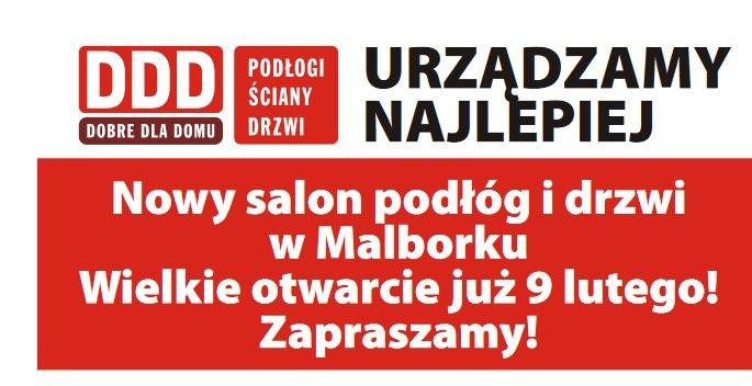 DDD Dobre Dla Domu - nowy salon podłóg i drzwi w Malborku!