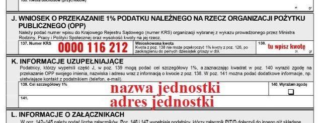 Przekaż 1% podatku na wybraną jednostkę Ochotniczej Straży Pożarnej z terenu Gminy Dzierzgoń - 01.03.2018