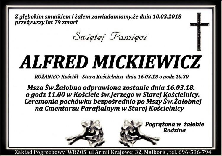 Zmarł Alfred Mickiewicz. Żył 79 lat