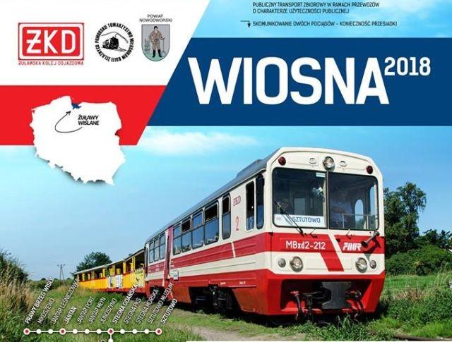 Żuławska Kolej Dojazdowa niebawem ruszy w trasę. Zobacz rozkład jazdy 2018