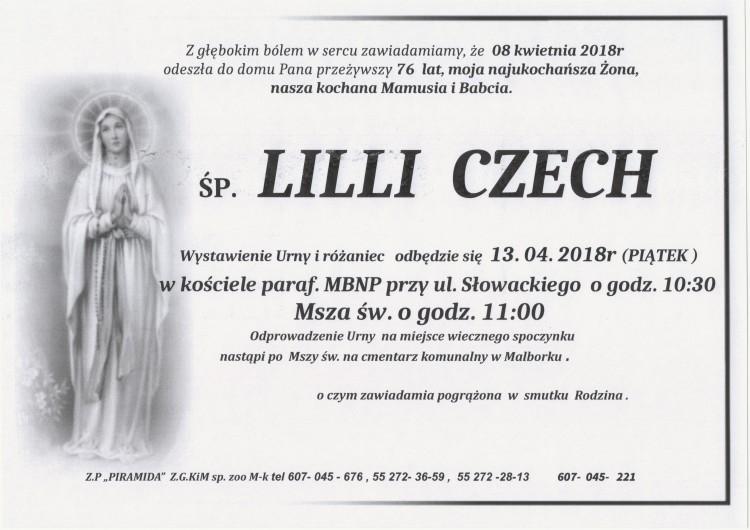 Zmarła Lilli Czech. Żyła 76 lat.