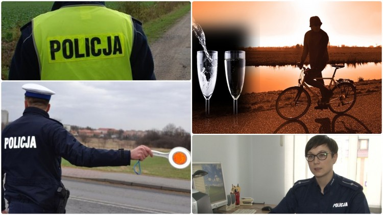 Pijany rowerzysta i kradzież telefonu. Raport weekendowy sztumskiej policji
