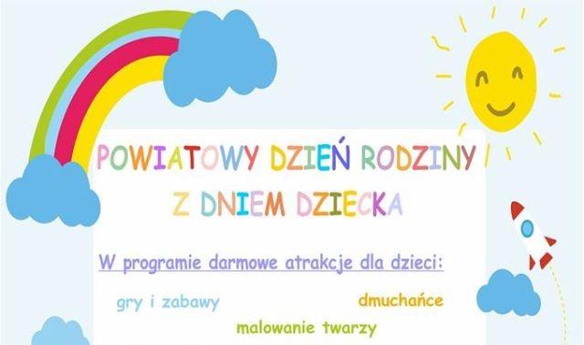 Zapraszamy na Powiatowy Dzień Rodziny z Dniem Dziecka w Dzierzgoniu