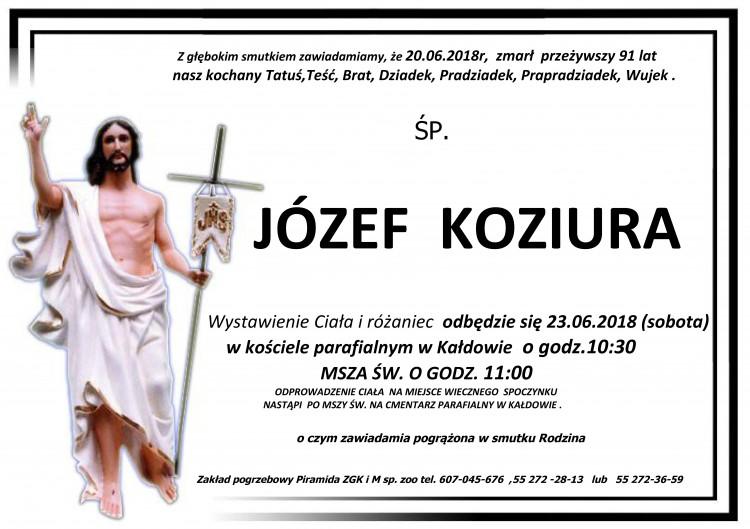 Zmarł Józef Koziura. Żył 91 lat.