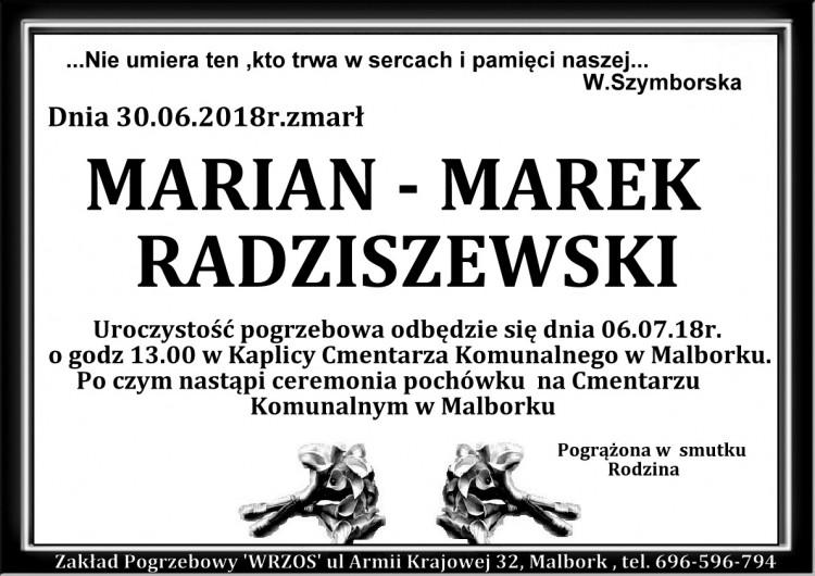 Zmarł Marian Marek Radziszewski.