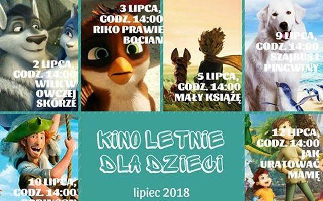 Zapraszamy dzieci na seanse kina letniego w Nowym Dworze Gdańskim.