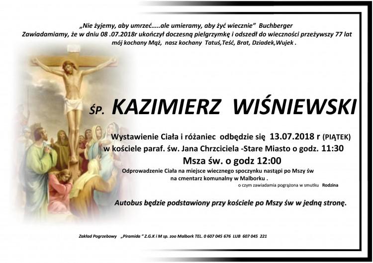 Zmarł Kazimierz Wiśniewski. Żył 77 lat