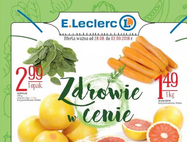 """""""Zdrowie w Cenie"""" – nowa oferta E.Leclerc"""