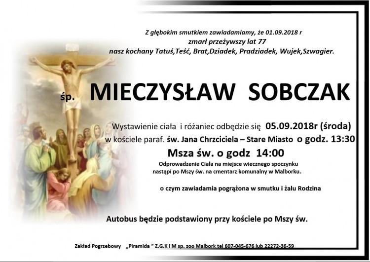 Zmarł Mieczysław Sobczak. Żył 77 lat