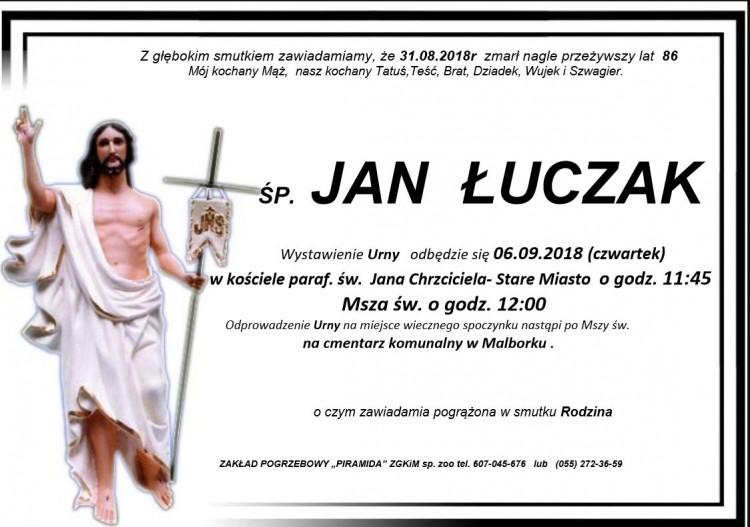 Zmarł Jan Łuczak. Żył 86 lat