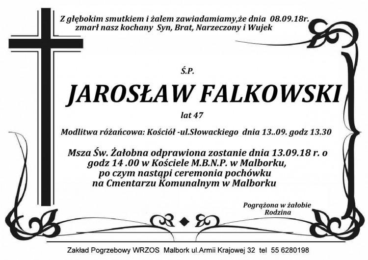 Zmarł Jarosław Falkowski. Żył 47 lat